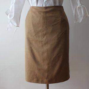 Vintage Cashmere, Angora and Wool Tan Skirt